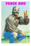 Peace Out Mexican Wrestler Pósters
