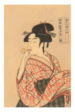 Japanese Woodblock, Lady's Portrait Prints