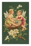 Cherubs in Nest Prints