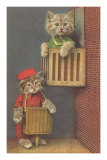 Dressed Kittens, Organ Grinder Photo