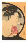 Japanese Woodblock, Woman at Toilette Posters