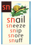 SN for Snail Plakater