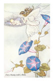 Fairy Mother and Baby on Morning Glory Prints