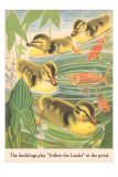 Ducklings Play Follow the Leader Prints