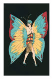 Topless Flapper with Butterfly Wings Prints
