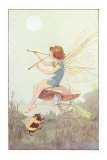 Fairy with Pipes and Insects Posters