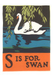 S is for Swan Prints