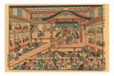 Japanese Woodblock, Temple Scene Posters
