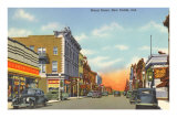 Broad Street, New Castle, Indiana Poster