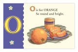 O is for Orange Affiches