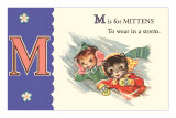 M is for Mittens Poster