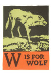 W is for Wolf Affischer