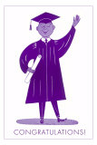 Congratulations, Graduate, Purple Poster