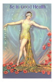 Be in Good Health, Dancer with Poppies Posters