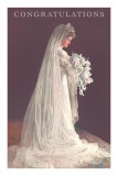 Congratulations, Bride in Gown Posters
