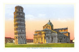Cathedral and Tower of Pisa, Italy Print
