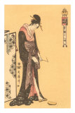 Japanese Woodblock, Geisha Photo