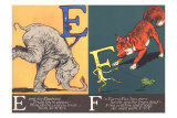 Elephant and Fox Posters