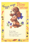 Doggy Says Bow Wow Prints