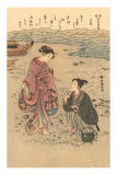 Japanese Woodblock, Japanese Women on Shore Prints