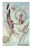 Fairies Riding Dragonflies and Bees Prints