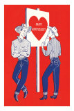 Happy Anniversary, Two Cowboys Prints