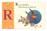 R is for Robin Posters