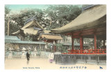 Temple d&#39;Ikuta, Kobe, Japon Poster