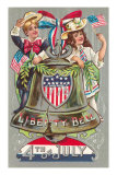 4th of July, Children with Liberty Bell Posters
