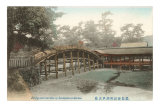 Bridge and Shrine, Japan Prints