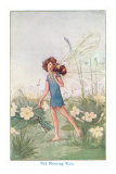 Fairy with Bee on Shoulder Posters