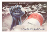 Knowledge is Power, Congratulations, Diploma, Graduation Prints