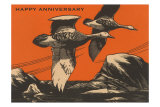 Happy Anniversary, Geese in Flight Prints