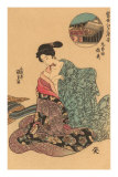 Japanese Woodblock, Woman Dressing Posters