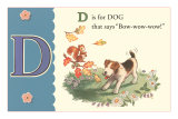 D is for Dog Affiche