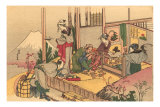 Japanese Woodblock, Tea Ceremony Prints