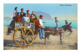 Sicilian Cart with Donkey, Italy Prints
