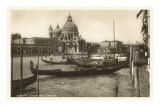Gondolas and Salute Church, Venice, Italy Print
