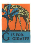 G is for Giraffe Affiches