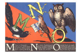 Magpie, Nightingale and Owl Posters