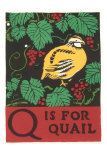 Q is for Quail Poster