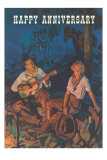 Happy Anniversary, Couple by Campfire Print