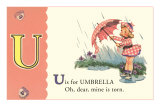 U is for Umbrella Posters