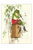 Frog Playing Flute Prints