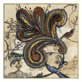 Bird of Paisley II Giclee Print by Susan Gillette