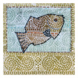 Mosaic Fish Print by Susan Gillette
