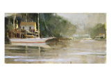 Snug Harbor Giclée-tryk af Ted Goerschner