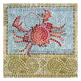 Mosaic Crab Giclee Print by Susan Gillette