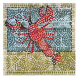 Mosaic Lobster Prints by Susan Gillette