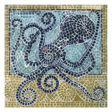 Mosaic Octopus Reproduction proc&#233;d&#233; gicl&#233;e par Susan Gillette
